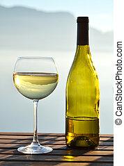 lago, Suíça, contra, Genebra, vinho