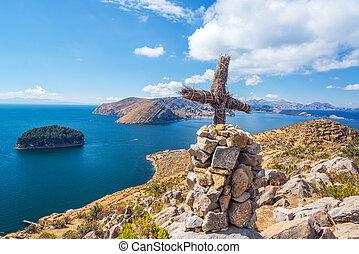 lago titicaca, croce