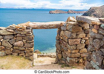 lago titicaca, rovine