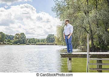 lago, uomo
