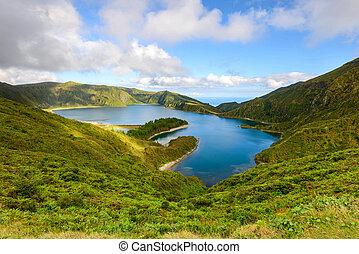 Lagoa do Fogo landscape in Azores