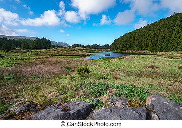 """Lagoa do Negro"" (Black Lagoon) in Terceira Island, Azores, Portugal"