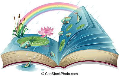lagoa, imagem, livro