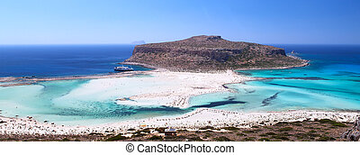 Lagoon Balos, Gramvousa, Crete, Greece - The place is called...