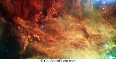 Lagoon Nebula, Messier 8 in the constellation Sagittarius. -...