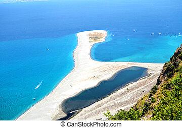 Lagoon Tindari - beautiful view of the lakes of Marinello
