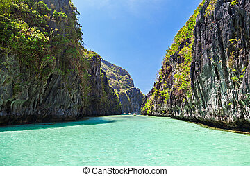 Lagoon - Very beautyful lagoon in the islands, Philippines
