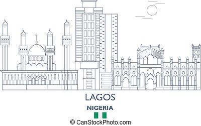Lagos City Skyline, Nigeria