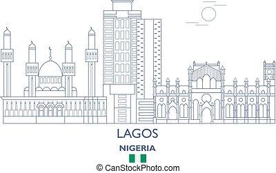 Lagos City Skyline, Nigeria