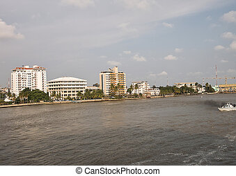 lagos - this is river niger in nigeria west africa
