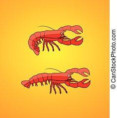 lagostas, arrepiado