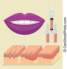 lagrar, injektion, botox, skinn
