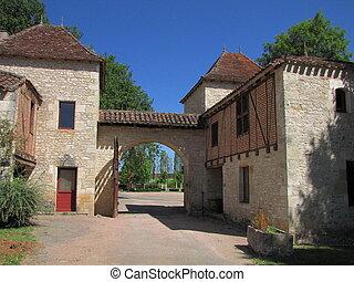 Lagrezette Castle, door
