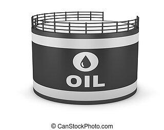 lagring, olja tankar