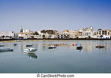 laguna at the city of Arrecife - Charco de San Gines, the...