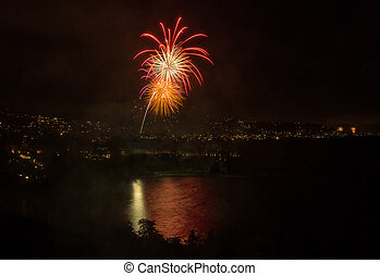 Laguna Beach fireworks / city lights on the fourth of July...