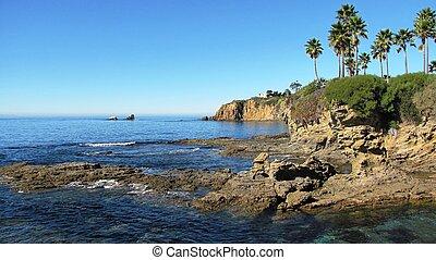 Geology on the coastline, Laguna Beach, CA