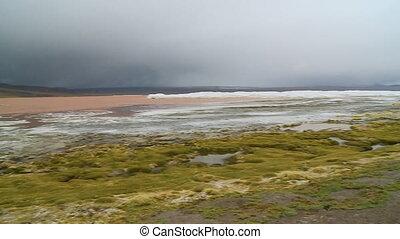 Laguna Colorada Landscape View, Atacama, Bolivia - Wide...