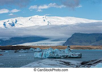 laguna de jokulsarlon, glacial