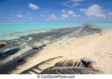 lagune, ø, aitutaki, ene fod