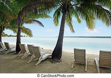 lagune, cook, eiland, arutanga, landscape, eilanden, aitutaki