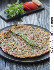 lahmacun traditional turkish pizza