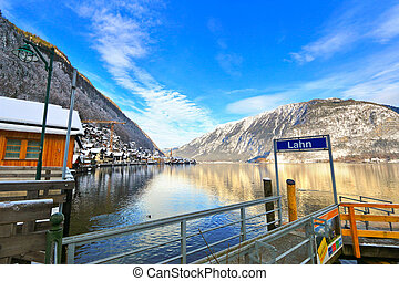 Lahn pier at Hallstatt Lake
