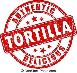 lahodný, tortilla, vektor, dupnutí