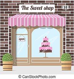 lahodnost, shop., kandys nadbytek, cukrářství, store.