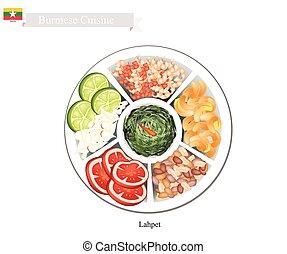 Lahpet or Burmese Pickled Tea Leaf Salad - Burmese Cuisine,...