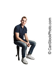 A picture of a European male sitting