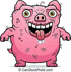 Debout laid chien laid standing chien illustration - Dessin cochon debout ...