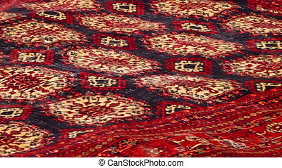 Laid down red carpet - A medium shot of a red carpet laid...