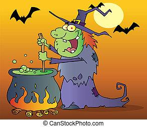 laid, potion, sorcière, préparer