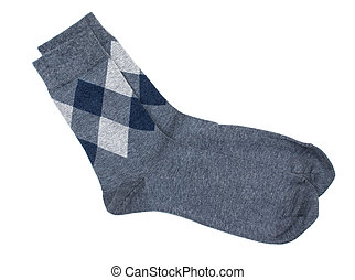 laine, chaud, modèle, sommet, hommes, isolé, chaussettes, fond blanc, vue., gros plan, rhombe, diamonds.