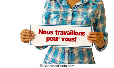 laisser, nous, travail, vous, (in, french)