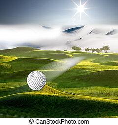 laissons, salut, golf