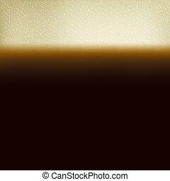lait, boisson, café, verre, noir, mousse