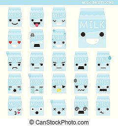 lait, emoticons