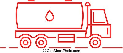 lait, ligne mince, rouges, pétrolier