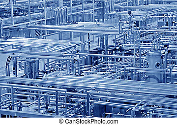 laitage, production, traitement, ligne, usine