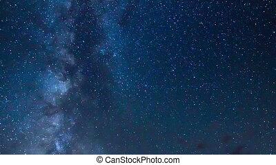 laiteux, ciel, galaxie, manière, nuit
