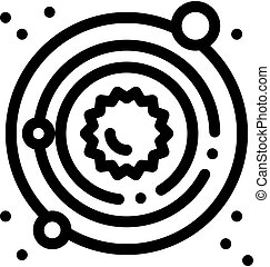 laiteux, icône, manière, système, solaire, illustration, ...