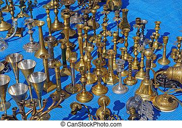 laiton, candleholders