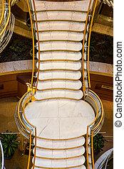 laiton, marbre, escalier