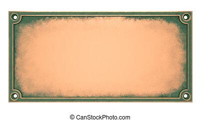 laiton, plaque