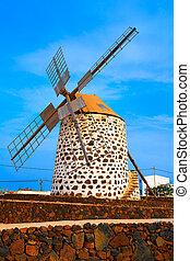 Lajares windmill Fuerteventura at Canary Islands