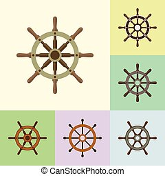lakás, állhatatos, ikonok, vezetés, hajó, kormányzó