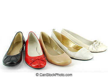 lakás, balett, nő, cipők