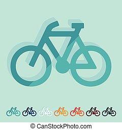 lakás, design:, bicikli